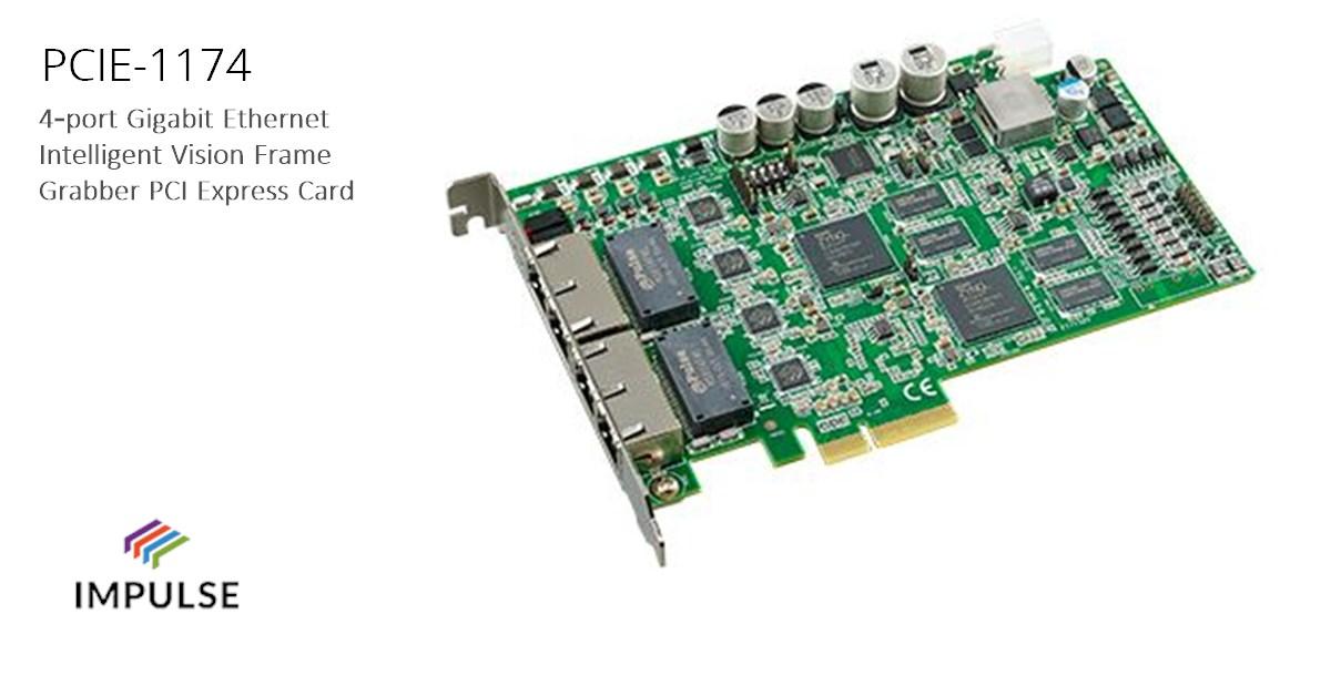 PCIE-1174 frame grabber card · Impulse Embedded Limited