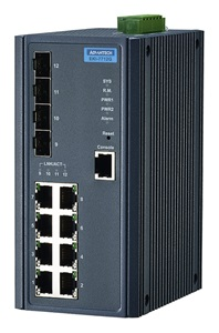EKI-7712G-2FVP Managed Redundant PoE Switch